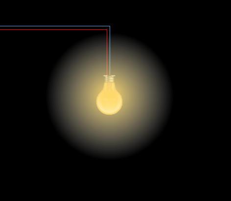 ايجاد افكت نور لامپ در پاورپوینت