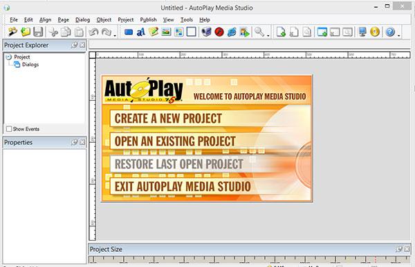 محیط نرم افزار autoplay media studio