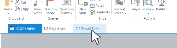 انتخاب حالت Story View و Slide View